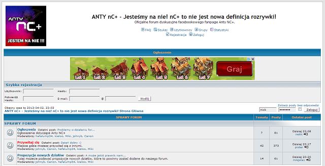 Strona główna forum Antyncplus.pl.
