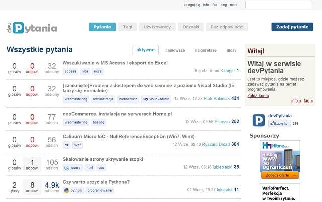 Strona główna - DevPytania.pl